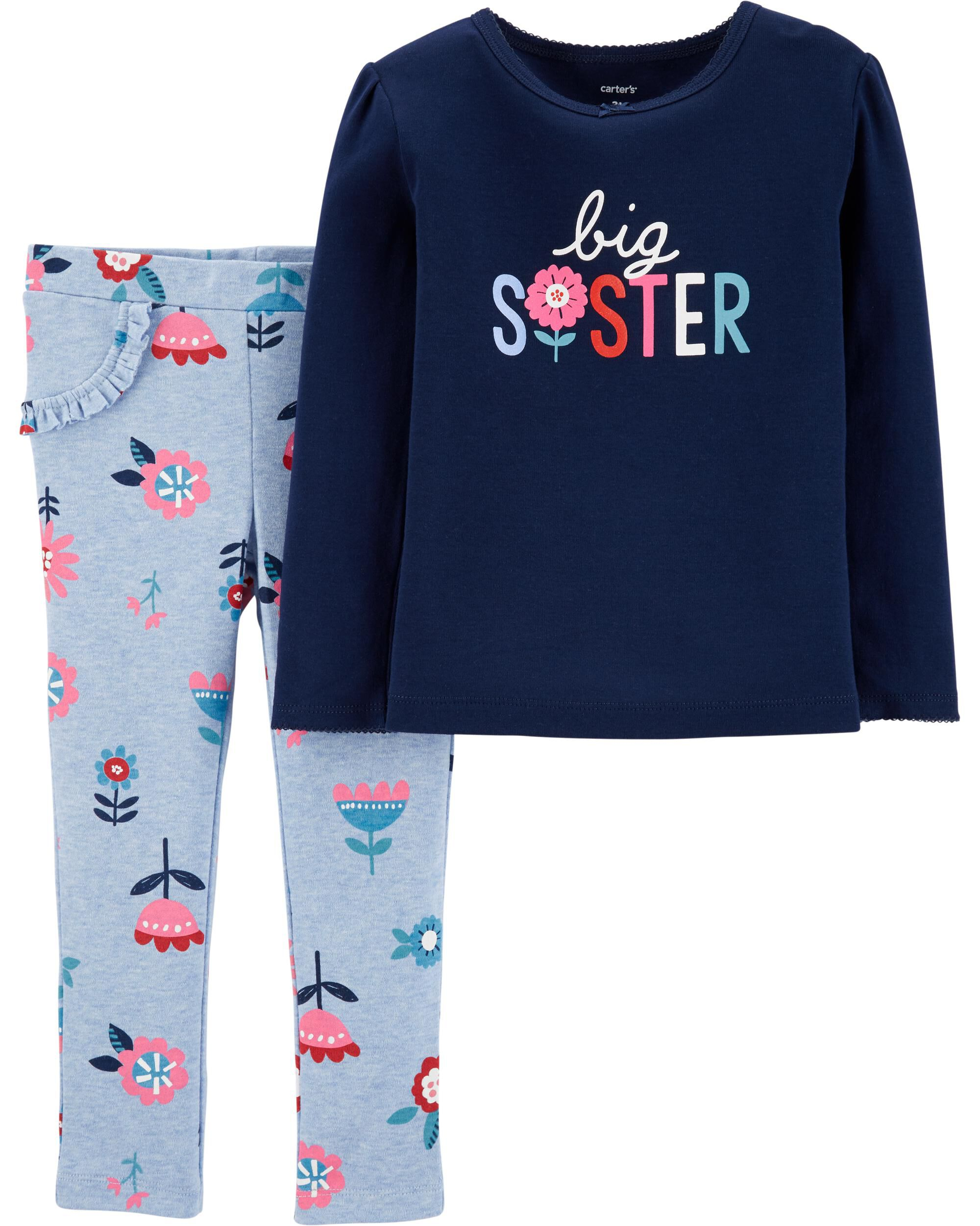 Large Floral Print Carters Girls Toddler Long Sleeve Tunic