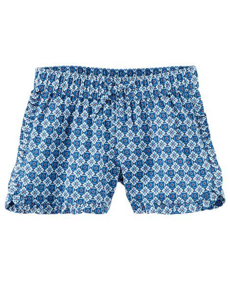 Flowy Geo Print Shorts