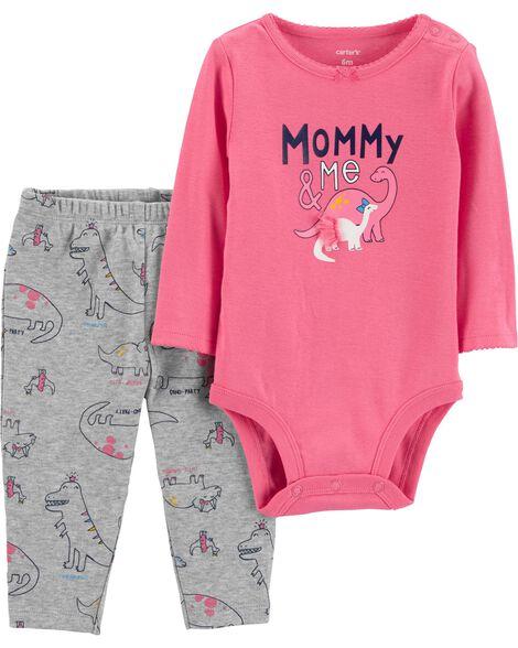 1a38a922dd960 2-Piece Bodysuit Pant Set | Carters.com