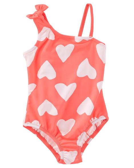 c7d4350dddeea Baby Girl OshKosh Heart Print Swimsuit