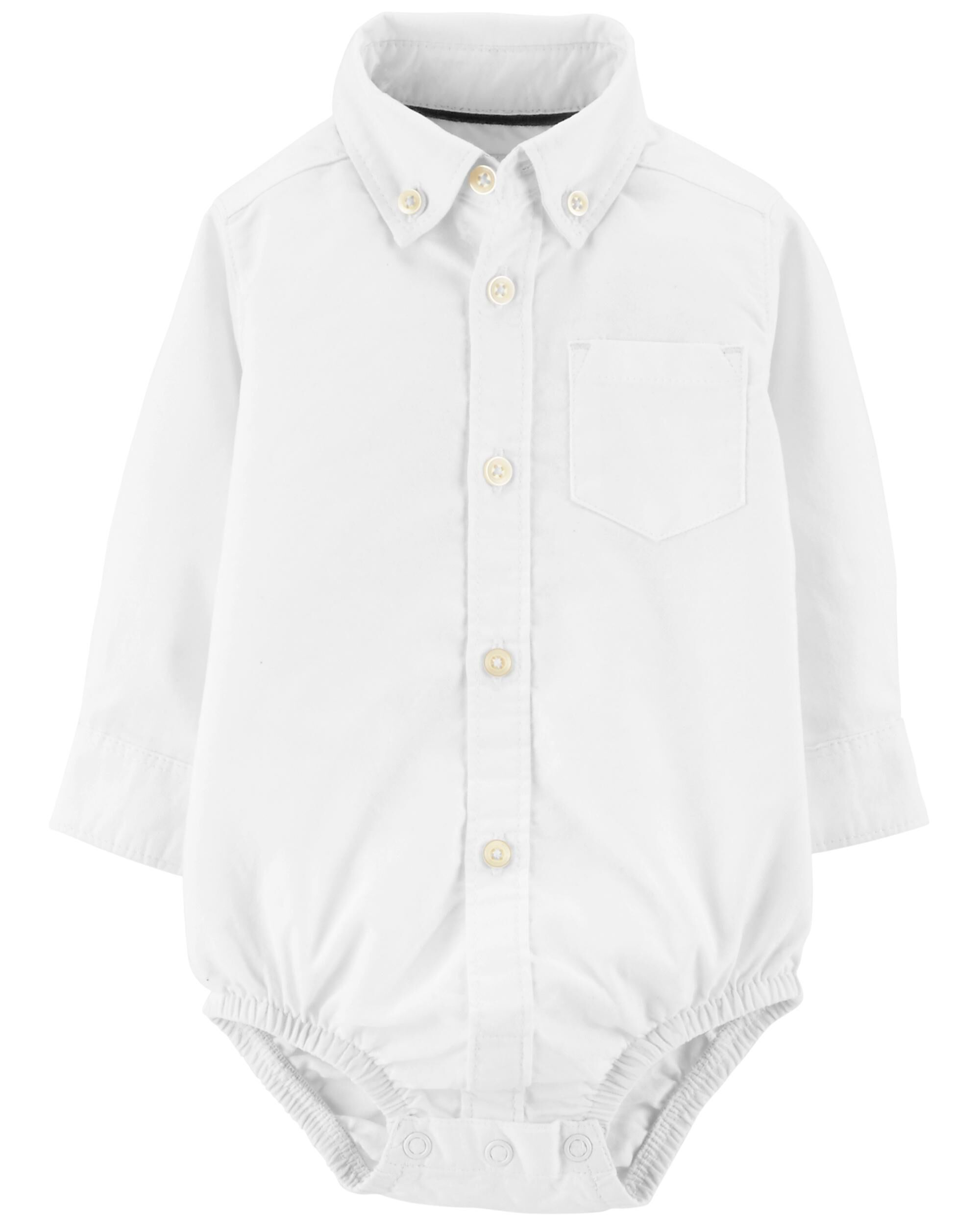 Button Front Uniform Bodysuit