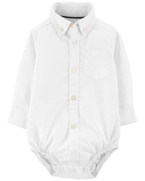 Oxford Button-Front Bodysuit