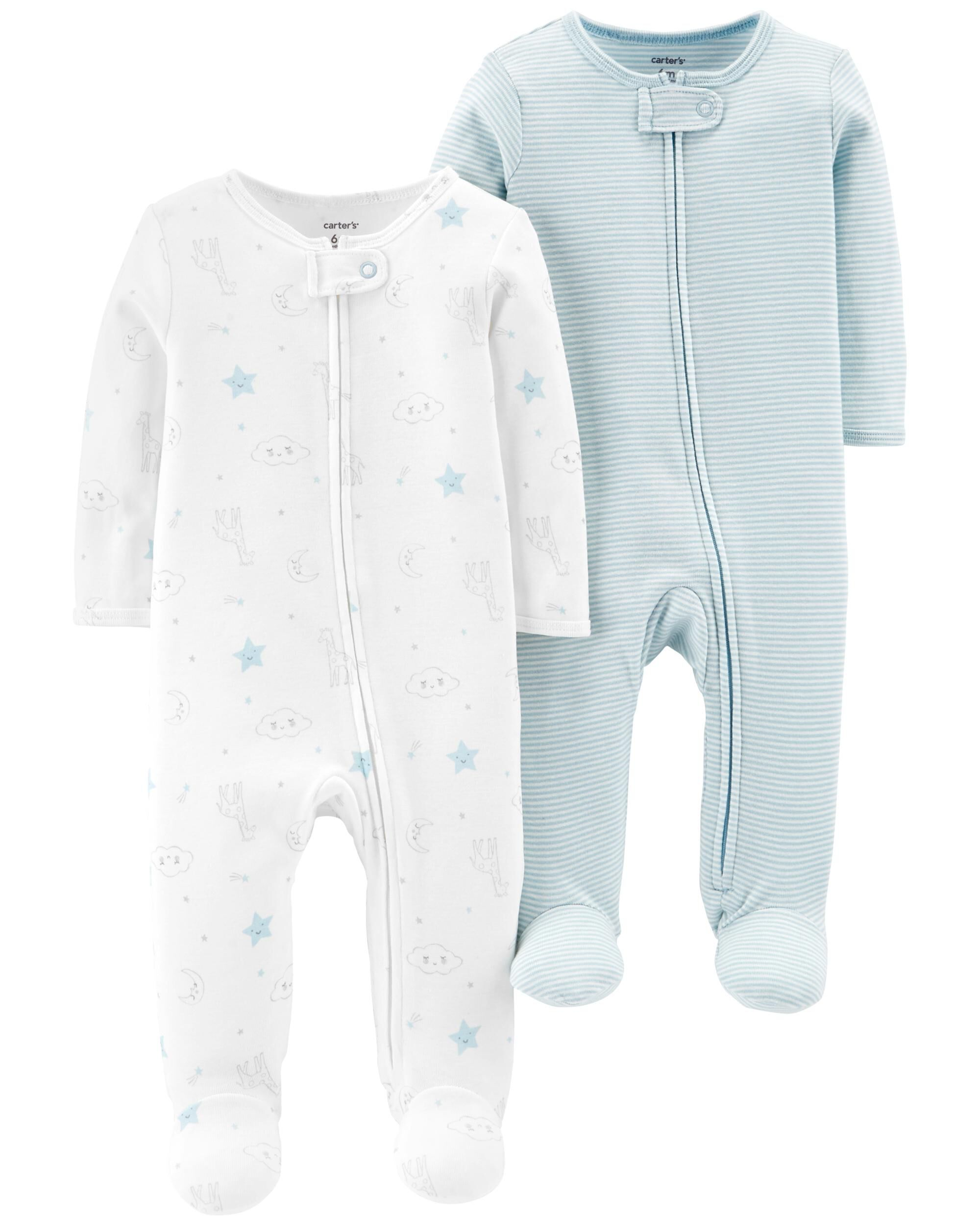 cdc5b09e80f6 2-Pack Zip-Up Cotton Sleep   Play