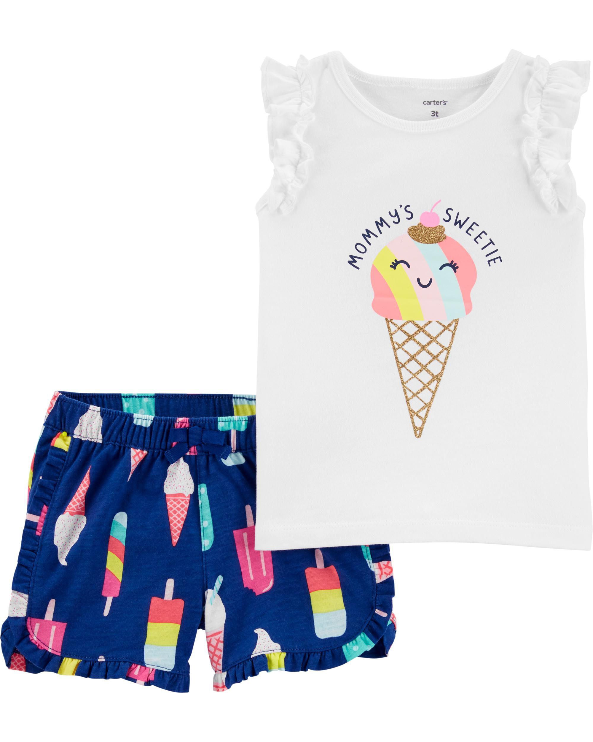 NWT CARTER/'S GIRLS PAJAMAS  one-piece  polka dot panda ice cream cone  4t