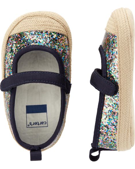 Carter's Glitter Mary Jane Baby Shoes