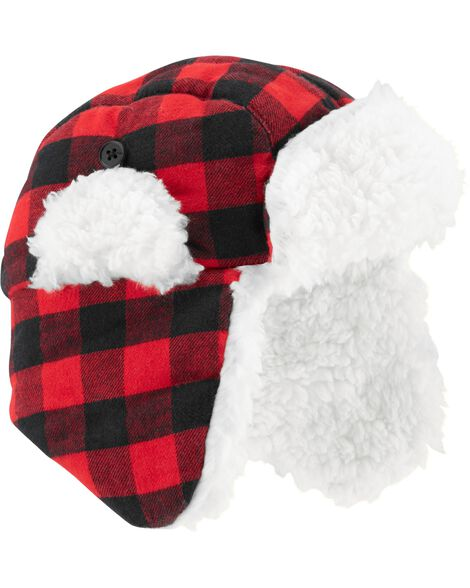 0288eda60589 Buffalo Check Flannel Trapper Hat