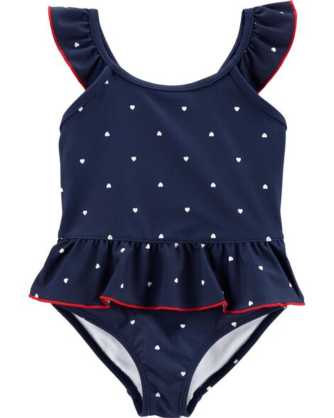 7aad5e461 Carter's Heart 1-Piece Swimsuit | Carters.com