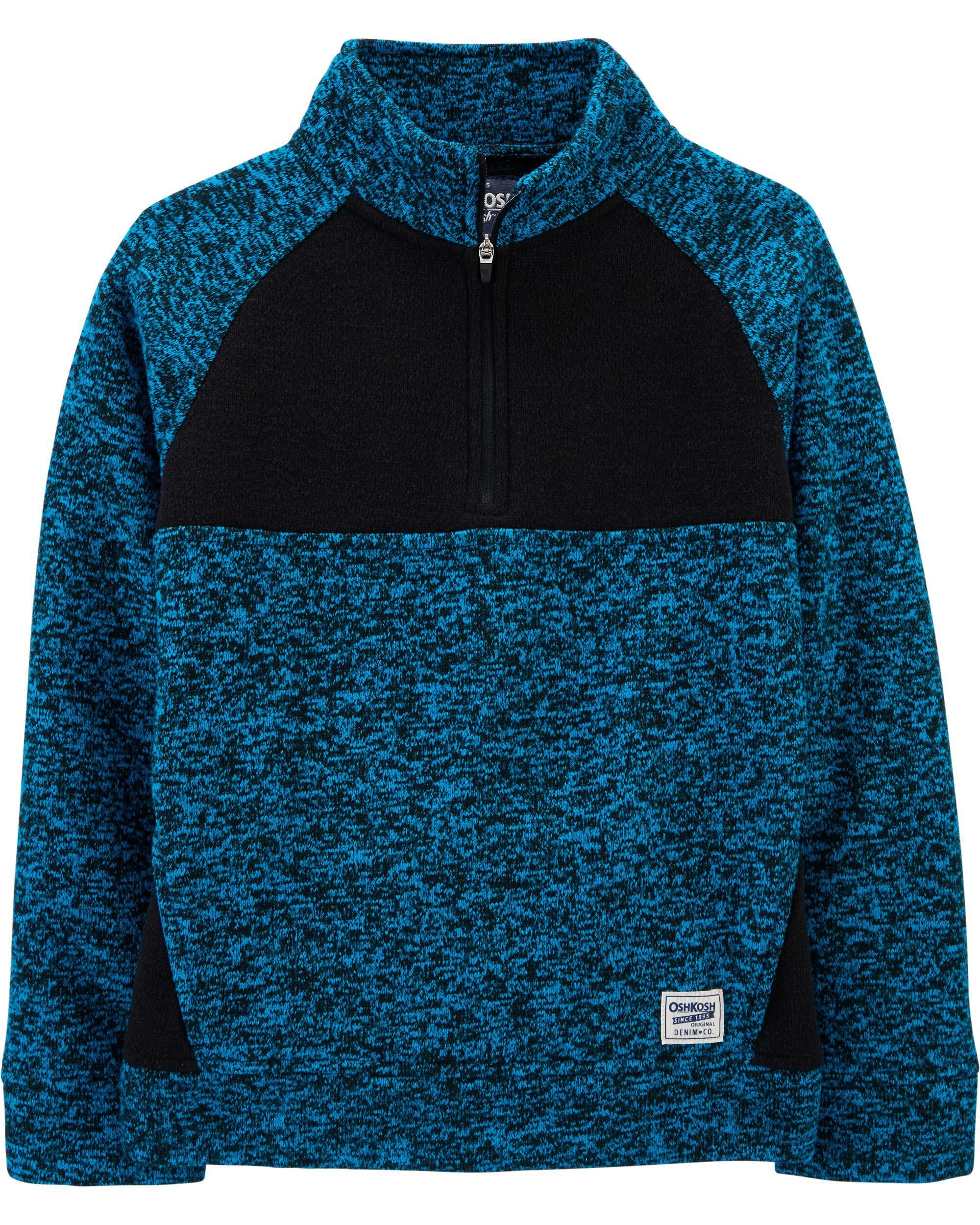 Marled Fleece Pullover