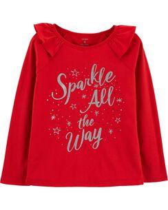 christmas sparkle tee - Christmas Shirts For Girls