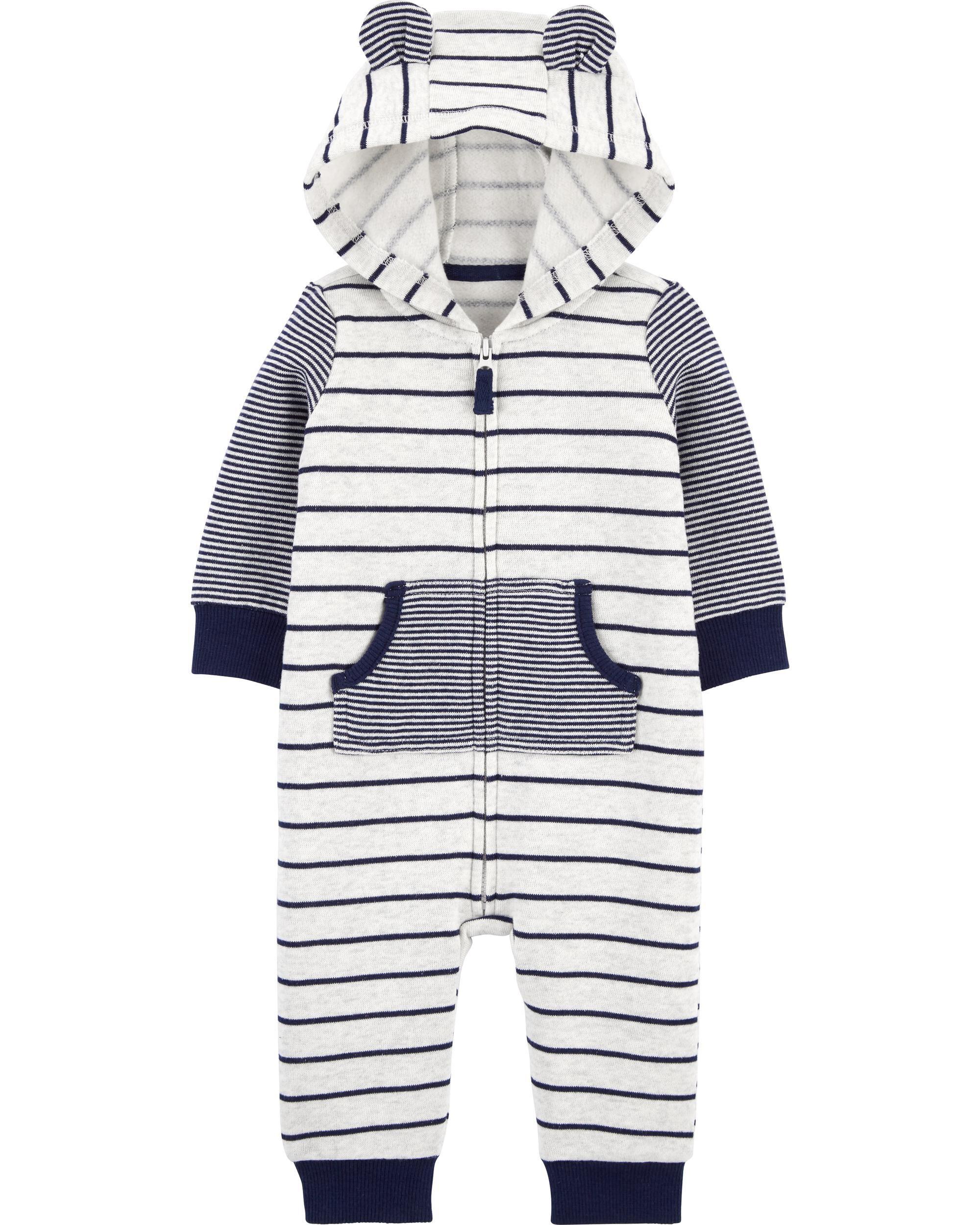 *DOORBUSTER* Striped Zip-Up Fleece Jumpsuit
