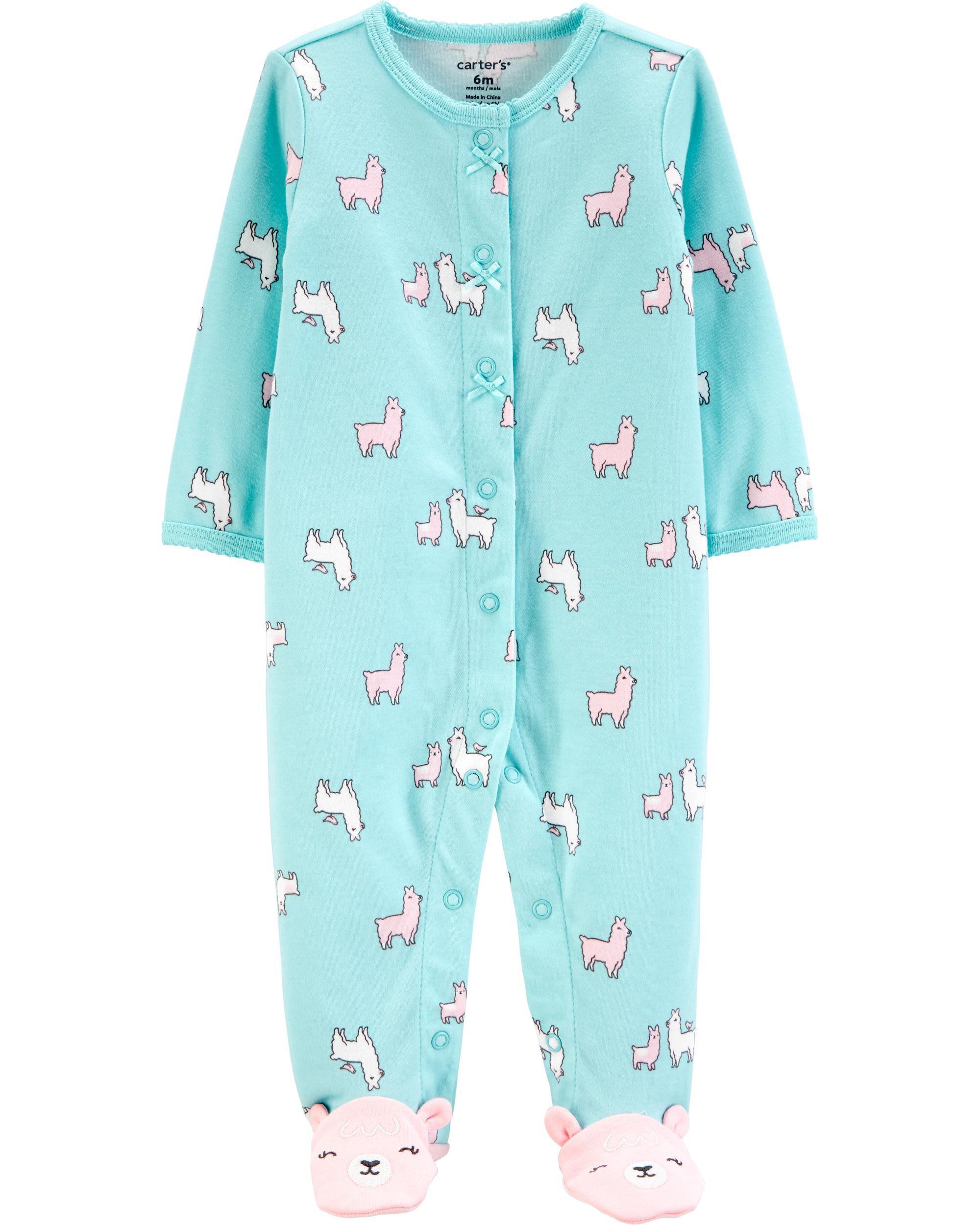 *CLEARANCE* Llama Snap-Up Cotton Cotton Sleep & Play