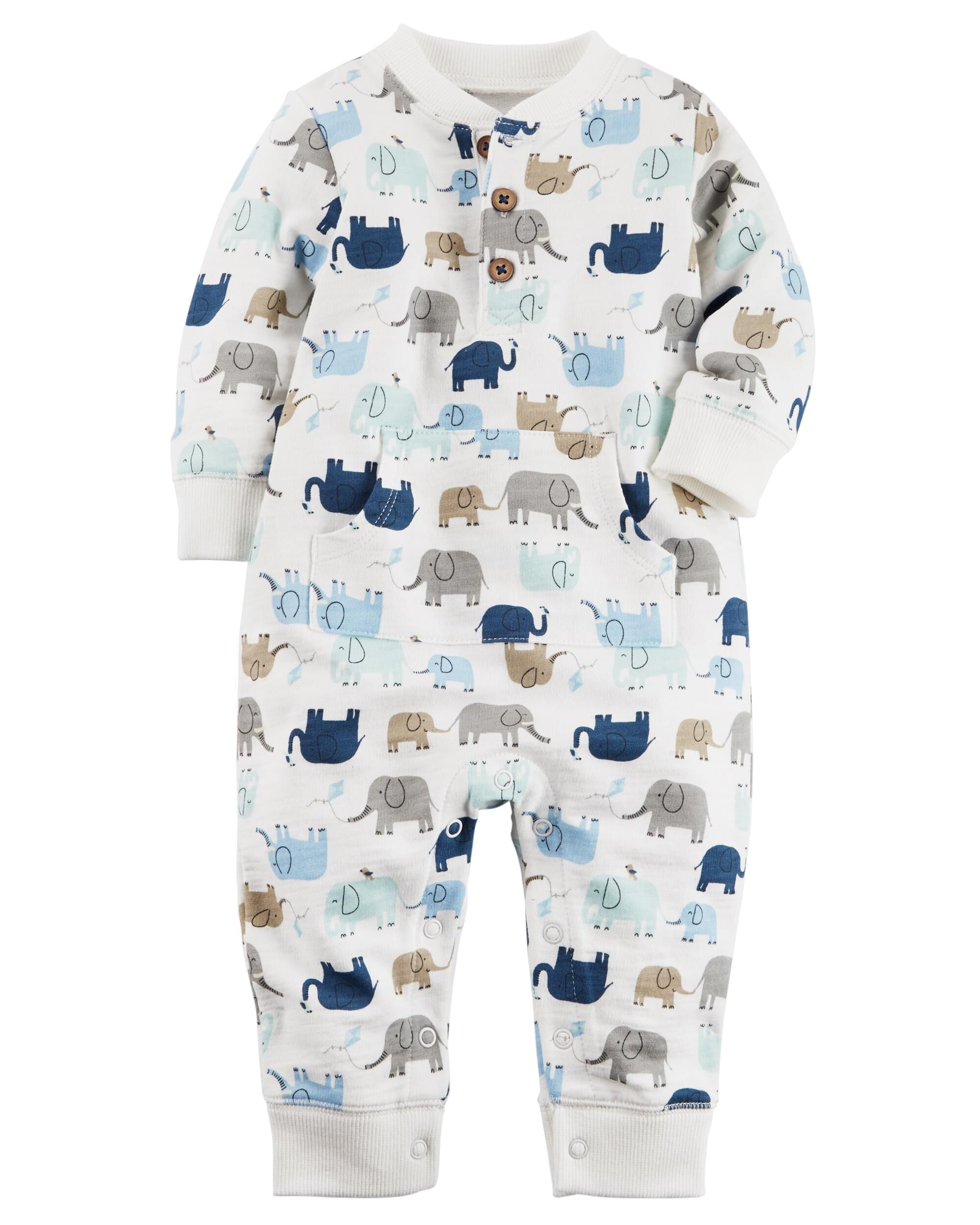 Elephant French Terry Jumpsuit
