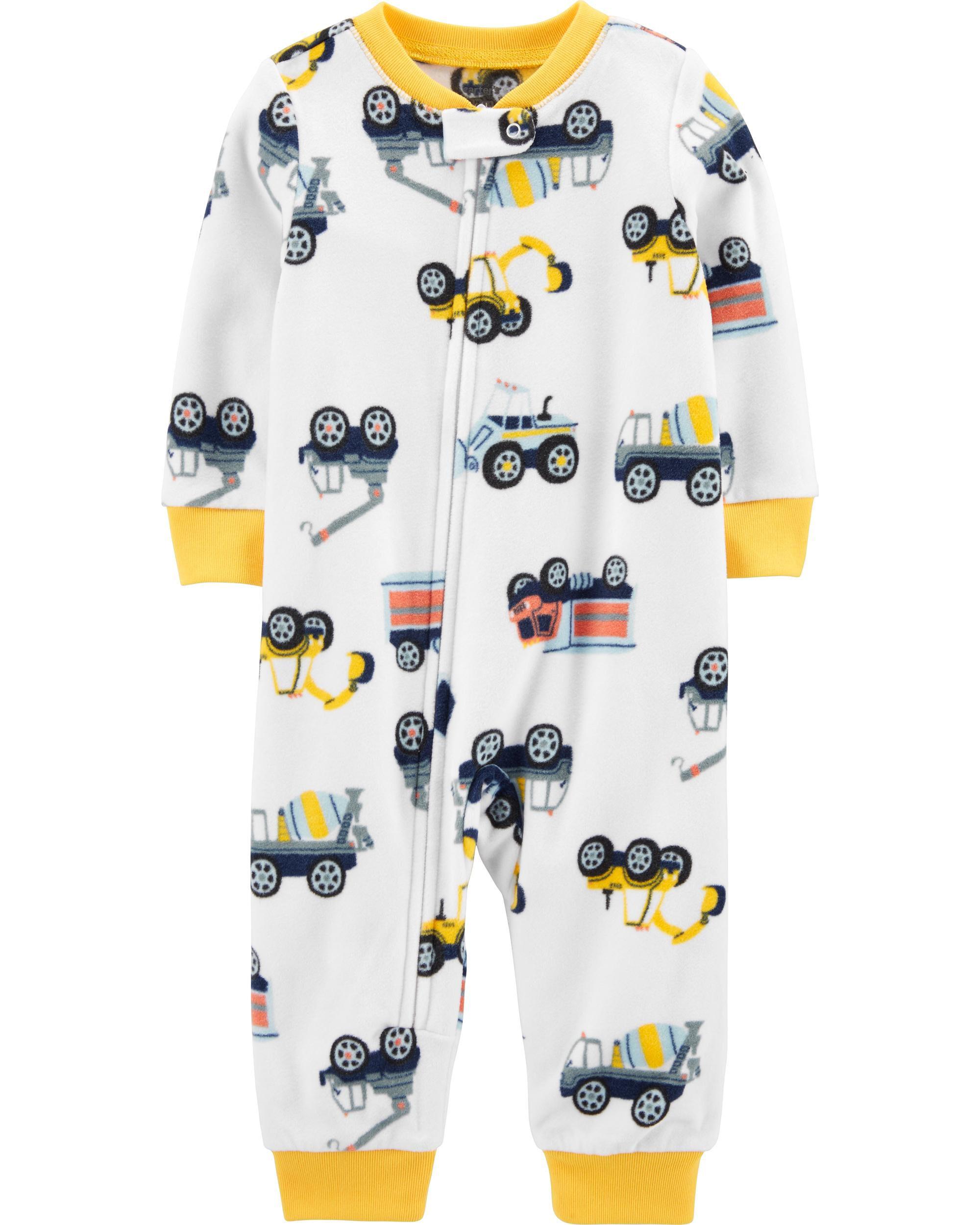 *DOORBUSTER* 1-Piece Construction Truck Fleece Footless PJs