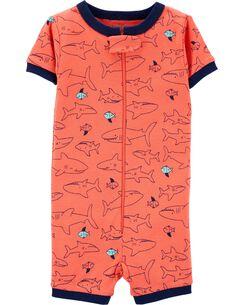 f1ae0432d135 1-Piece Shark Snug Fit Cotton Sleep Romper