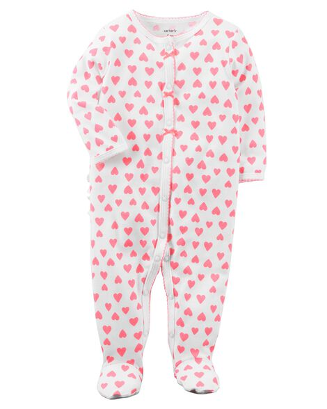 Heart Snap-Up Cotton Sleep   Play ... d6041bd4b
