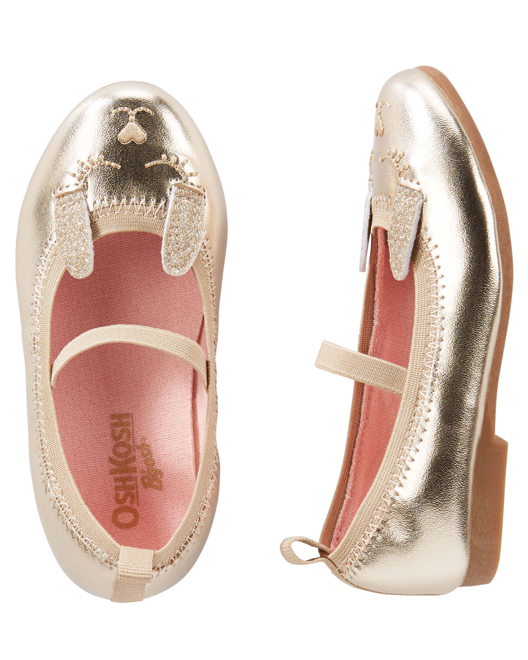 Baby Girl OshKosh Gold Bunny Flats