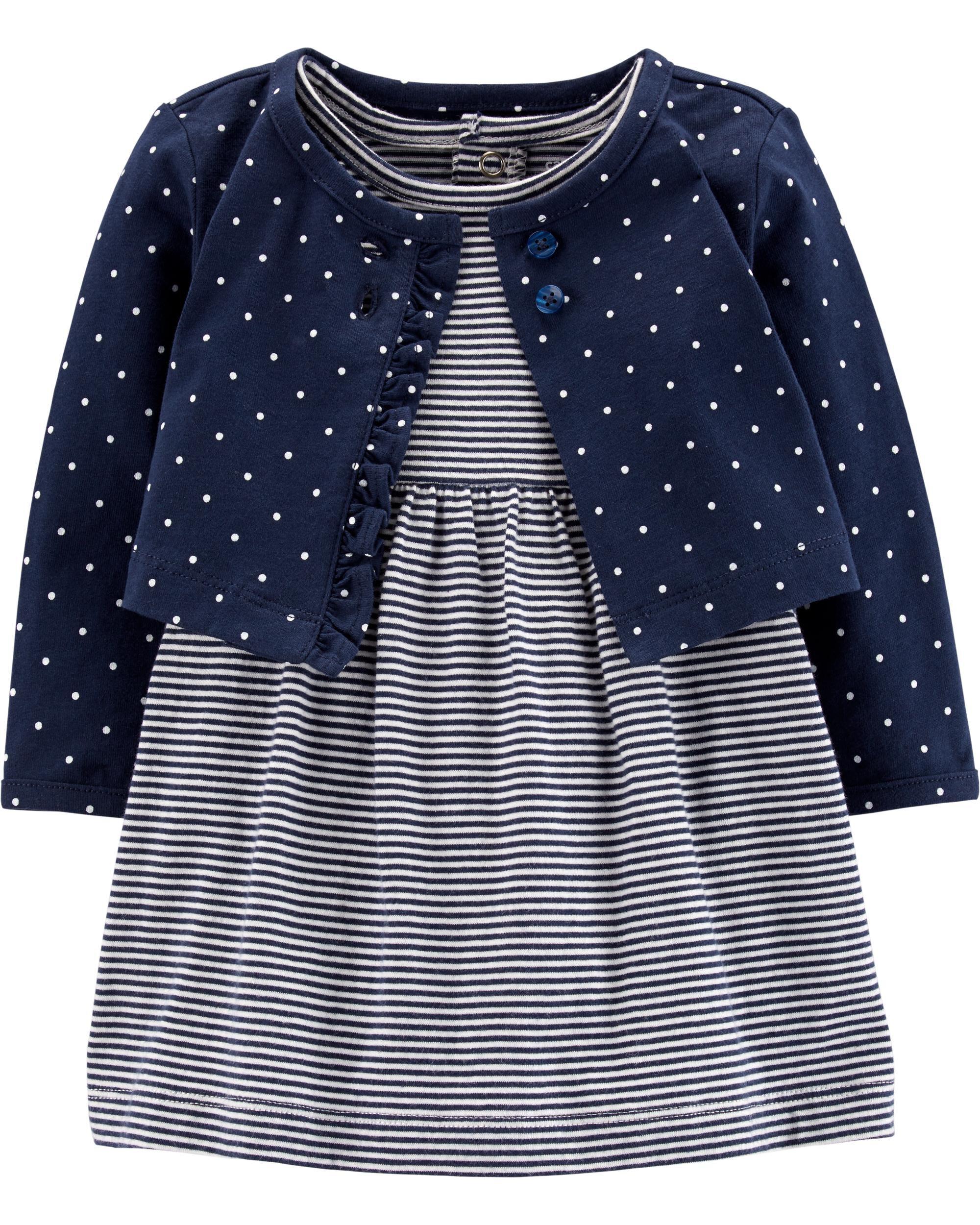 3Pcs New Baby Girl Clothes Anchor Sleeveles Topspolka Dots Briefs Fashion