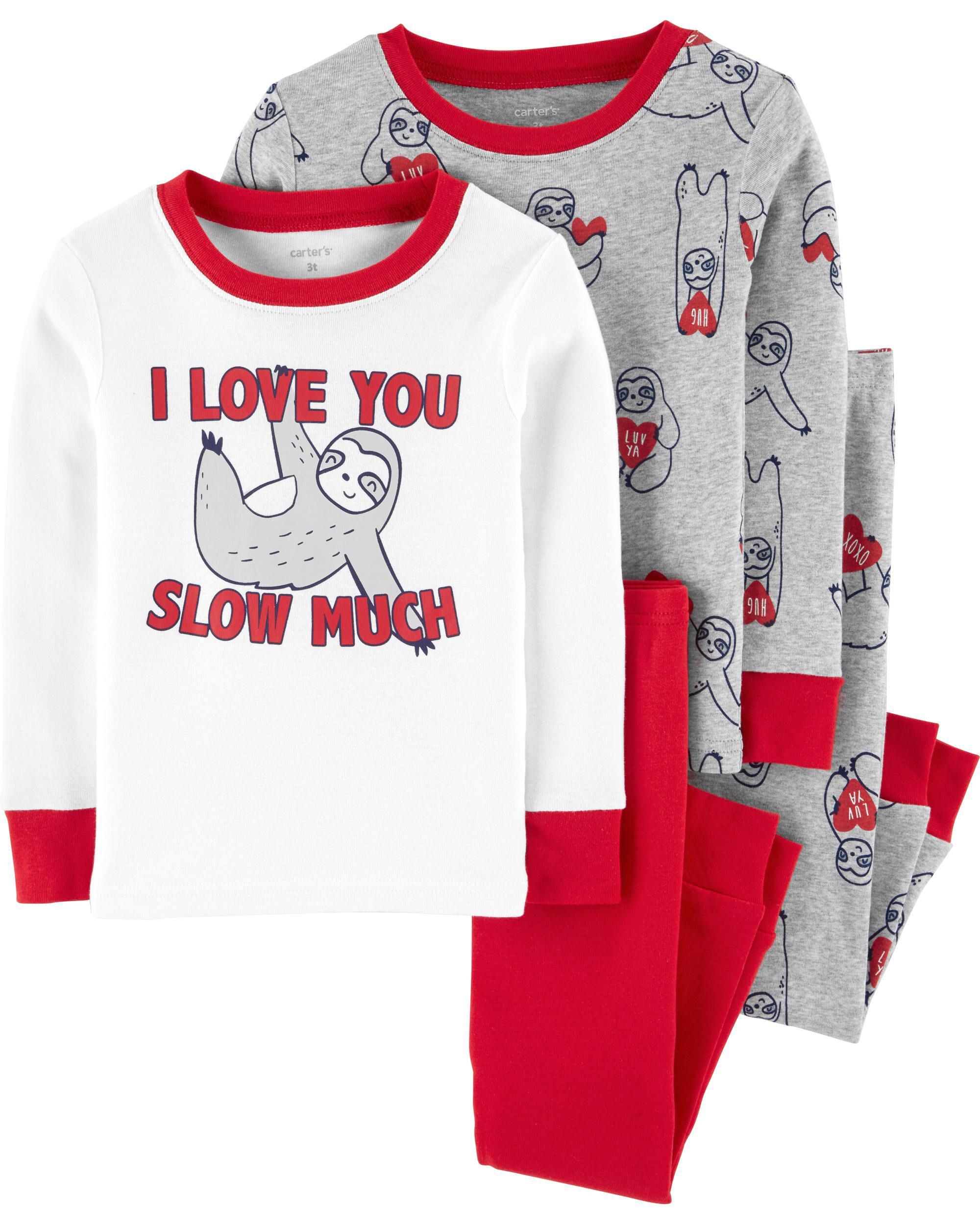 Carter/'s 4-Piece PJs Boys Pajamas size 5T