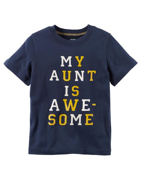 My Aunt Is Awesome Jersey Tee
