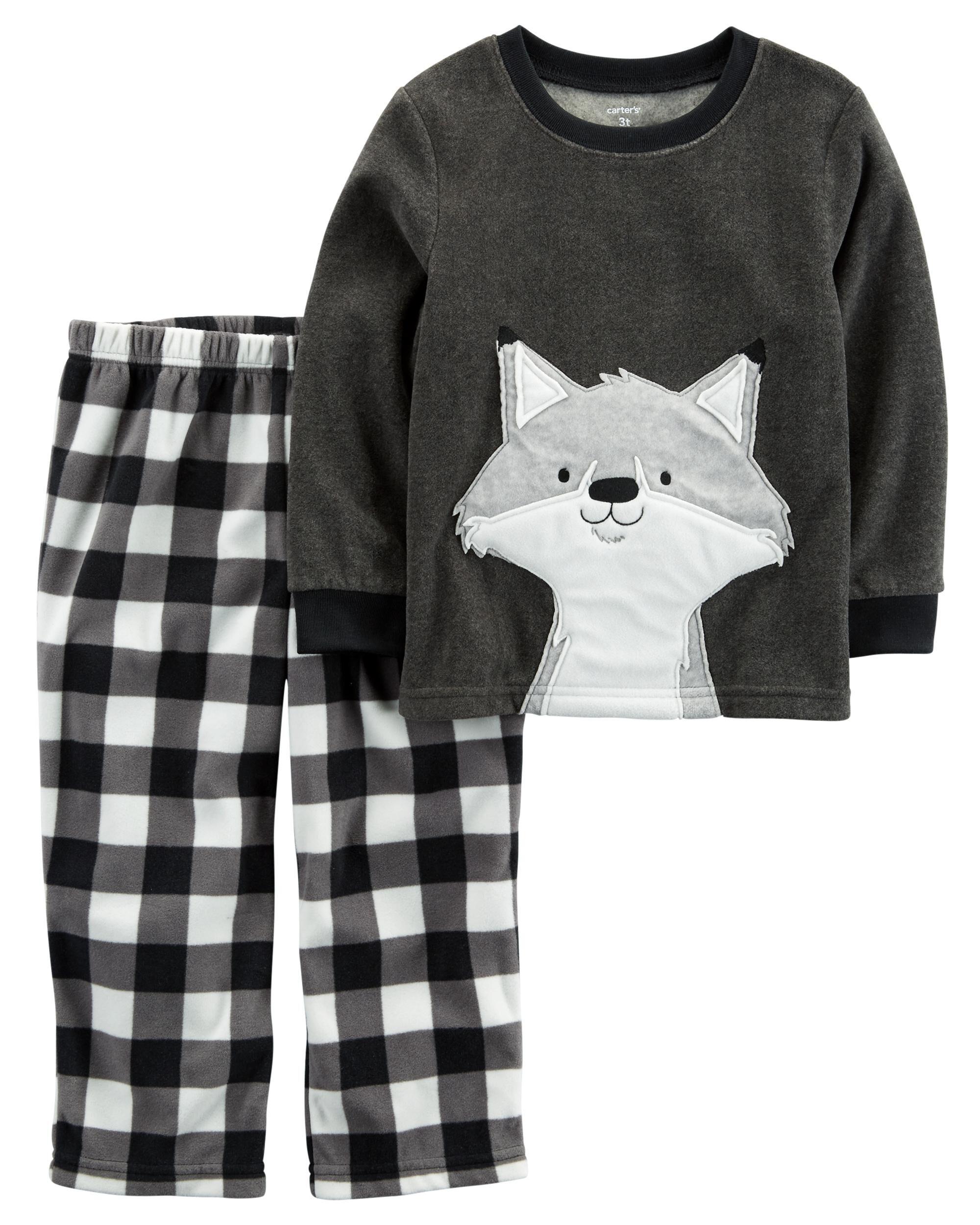 8c14f6fdb6d8 2-Piece Fox Fleece PJs