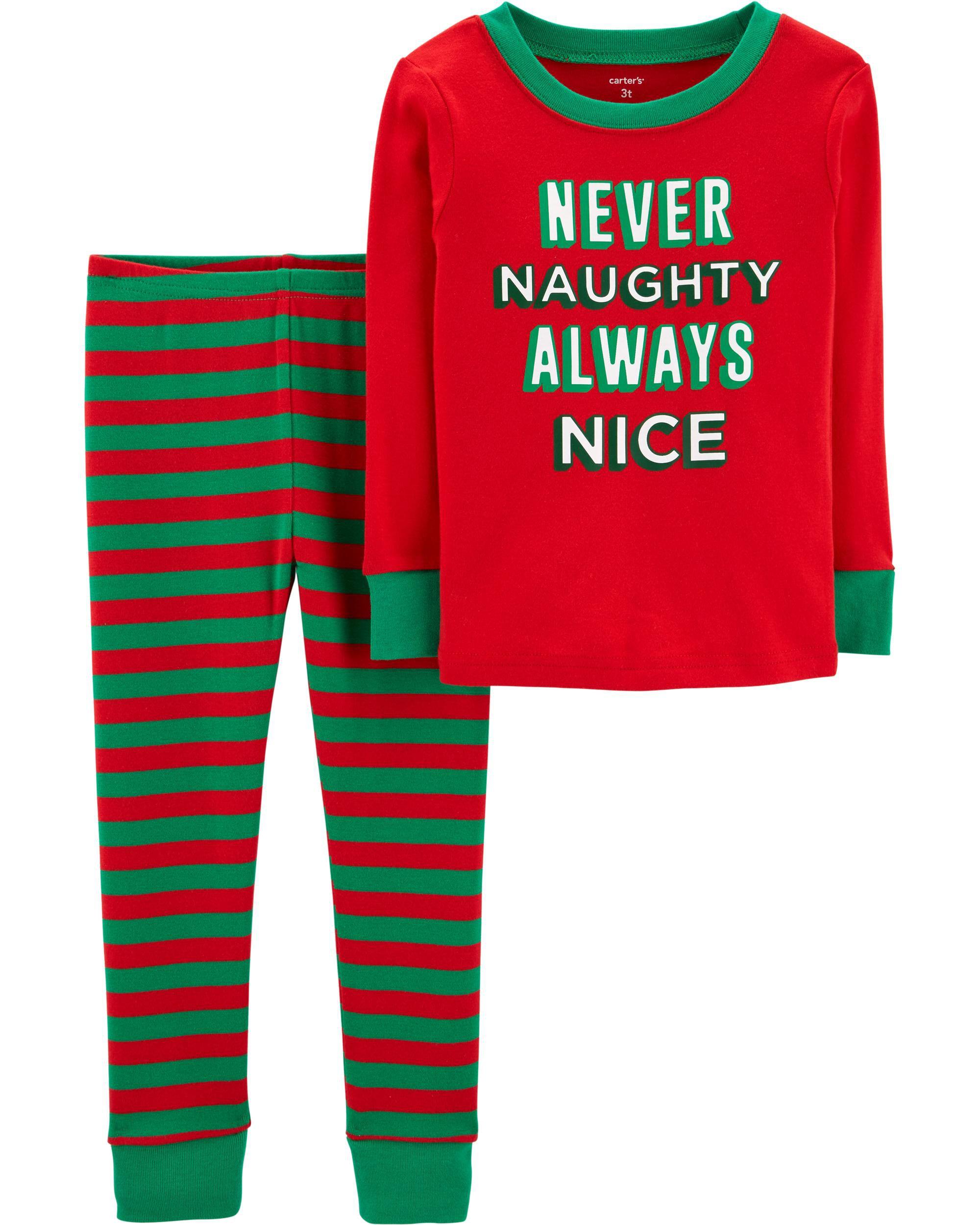 Carters Baby Boys Christmas 2-Piece Snug Fit Cotton Pajamas Set- Baby