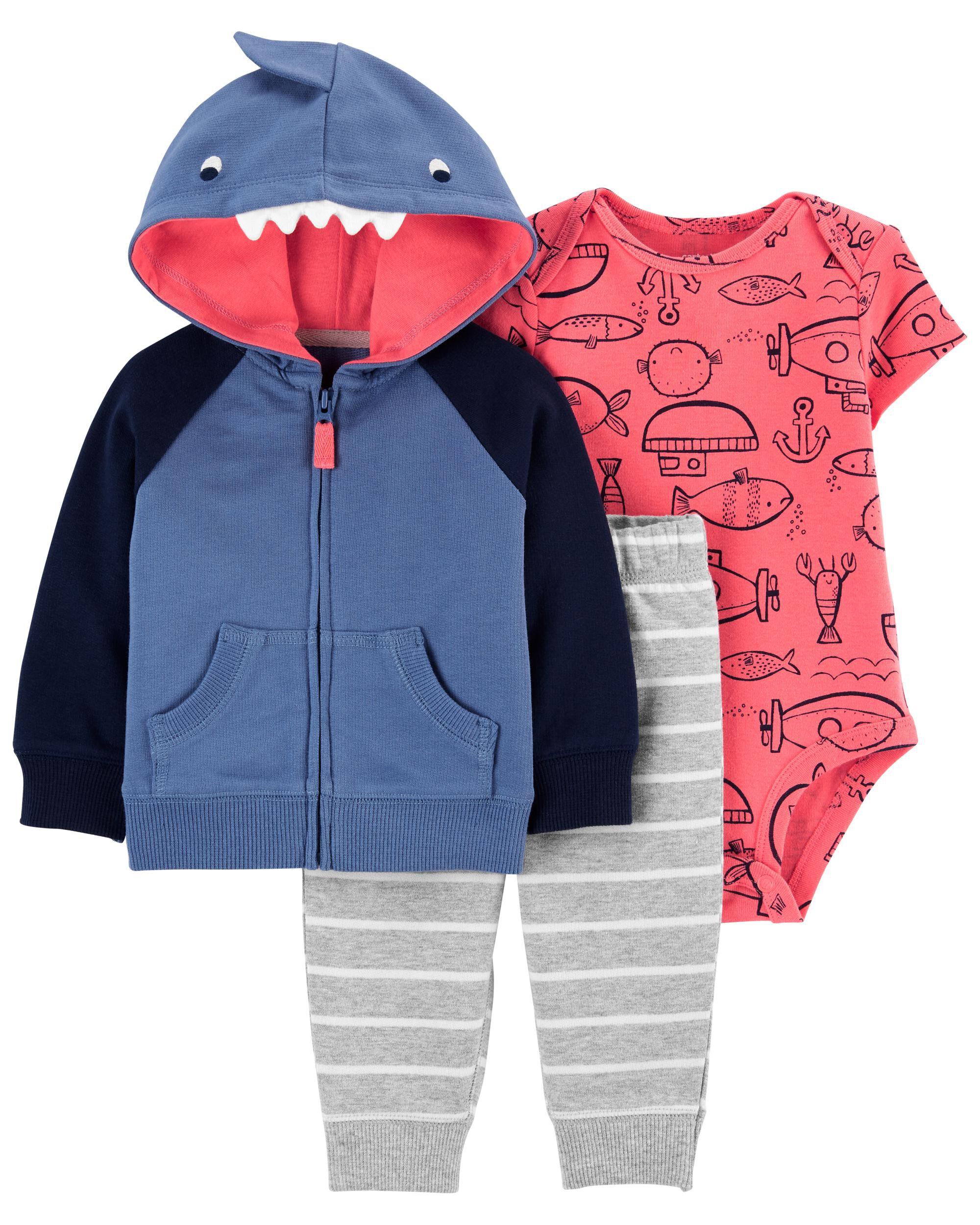 *DOORBUSTER* 3-Piece Shark Little Jacket Set