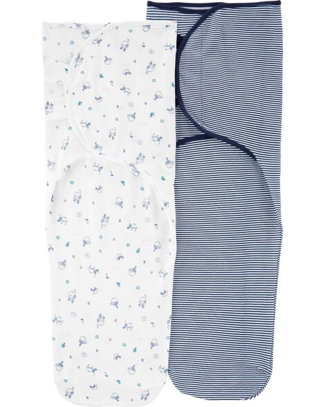 2-Pack Cotton Easy Swaddles