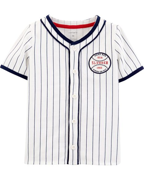 Americana Baseball Button-Front Shirt