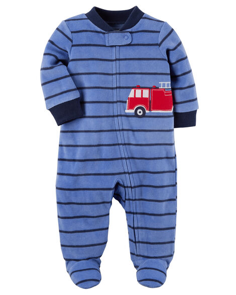 d040622e86e5 Firetruck Zip-Up Fleece Sleep   Play