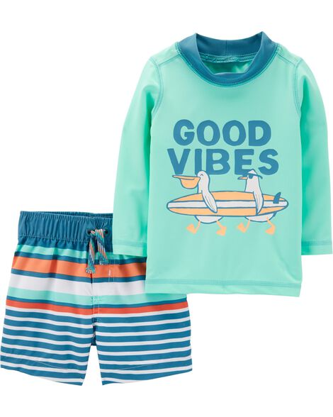 cf5cb91d10 Carter's 2-Piece Beach Rashguard Set | Carters.com