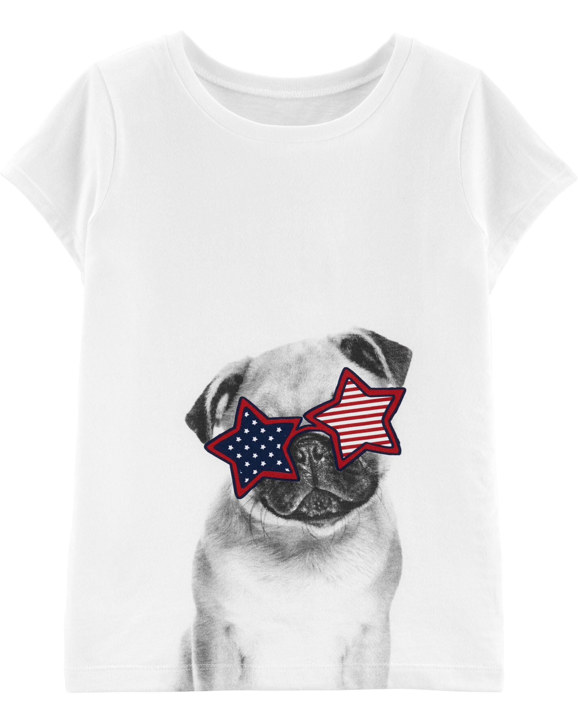 *CLEARANCE* 4th Of July Pug Jersey Tee