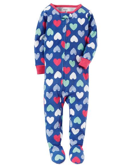 Images. 1-Piece Heart Snug Fit Cotton PJs 99d82d663