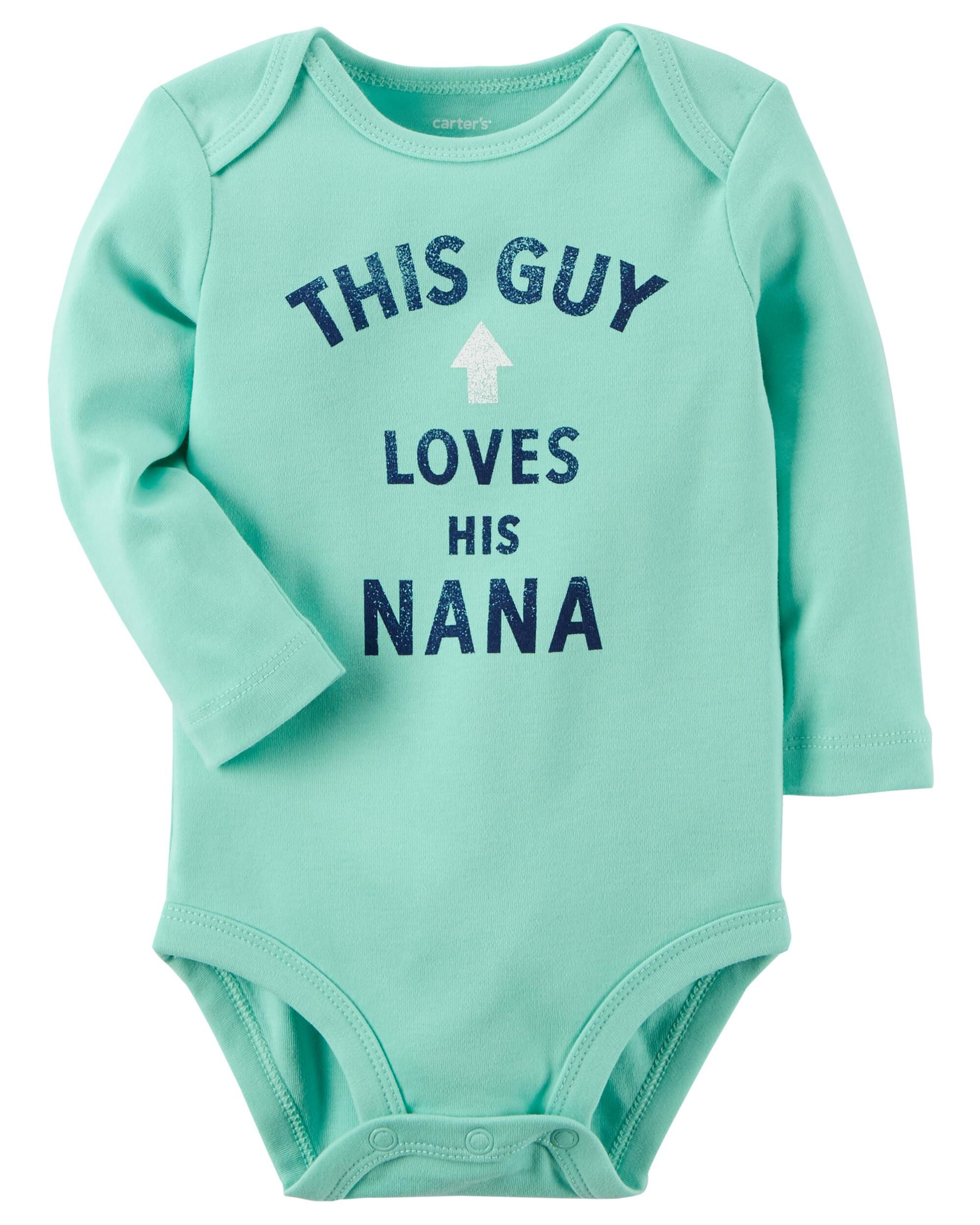 This Guy Loves Nana Collectible Bodysuit