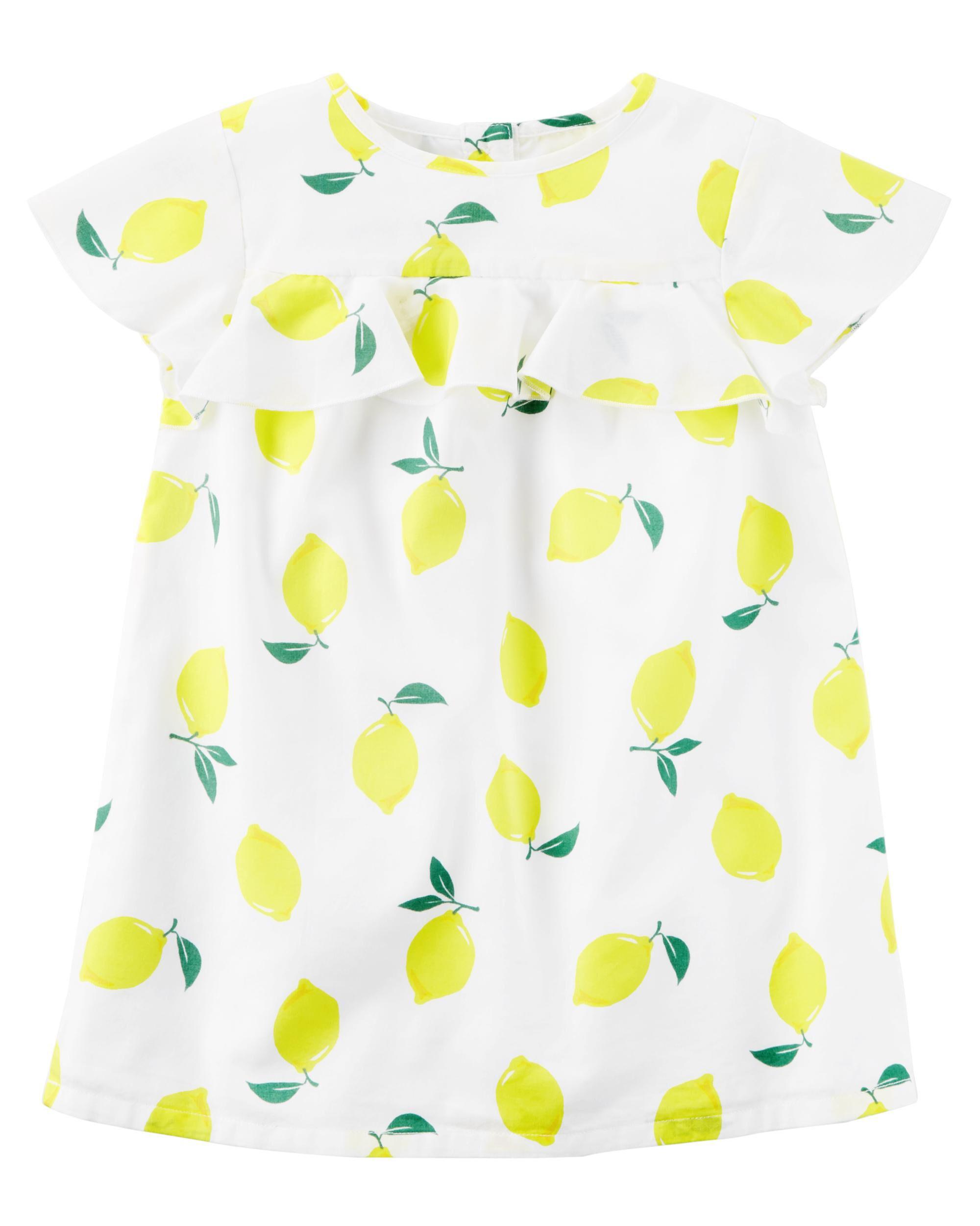 Lemon Ruffle Dress