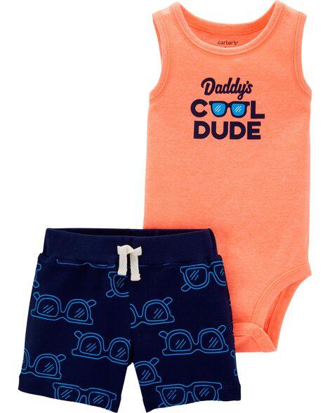 2-Piece Cool Dude Bodysuit & Short Set