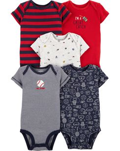 f59b17644e61 Baby Boy One-Piece Bodysuits, Multi-Pack Bodysuits | Carter's | Free ...