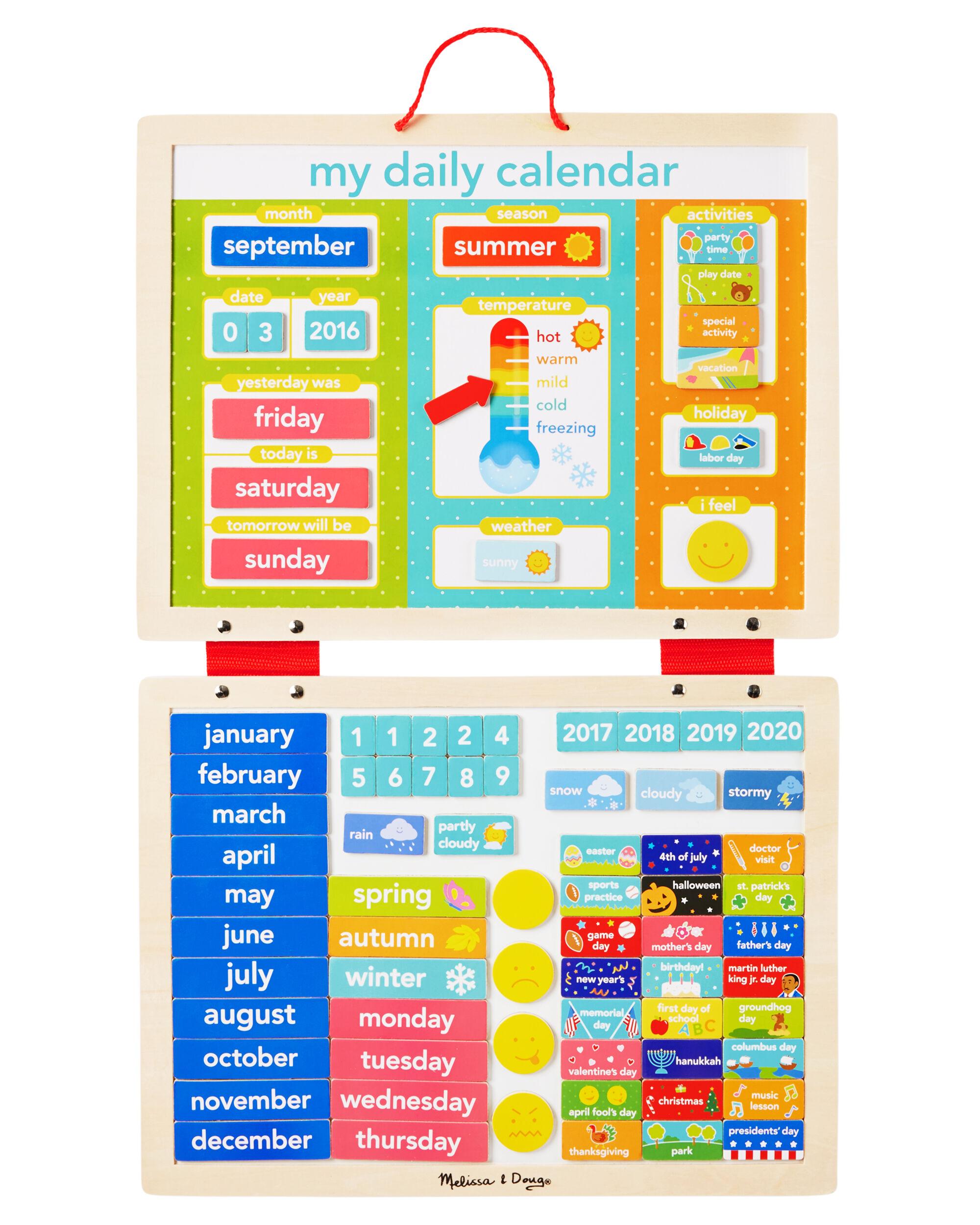 Melissa And Doug My Magnetic Daily Calendar Carters Com