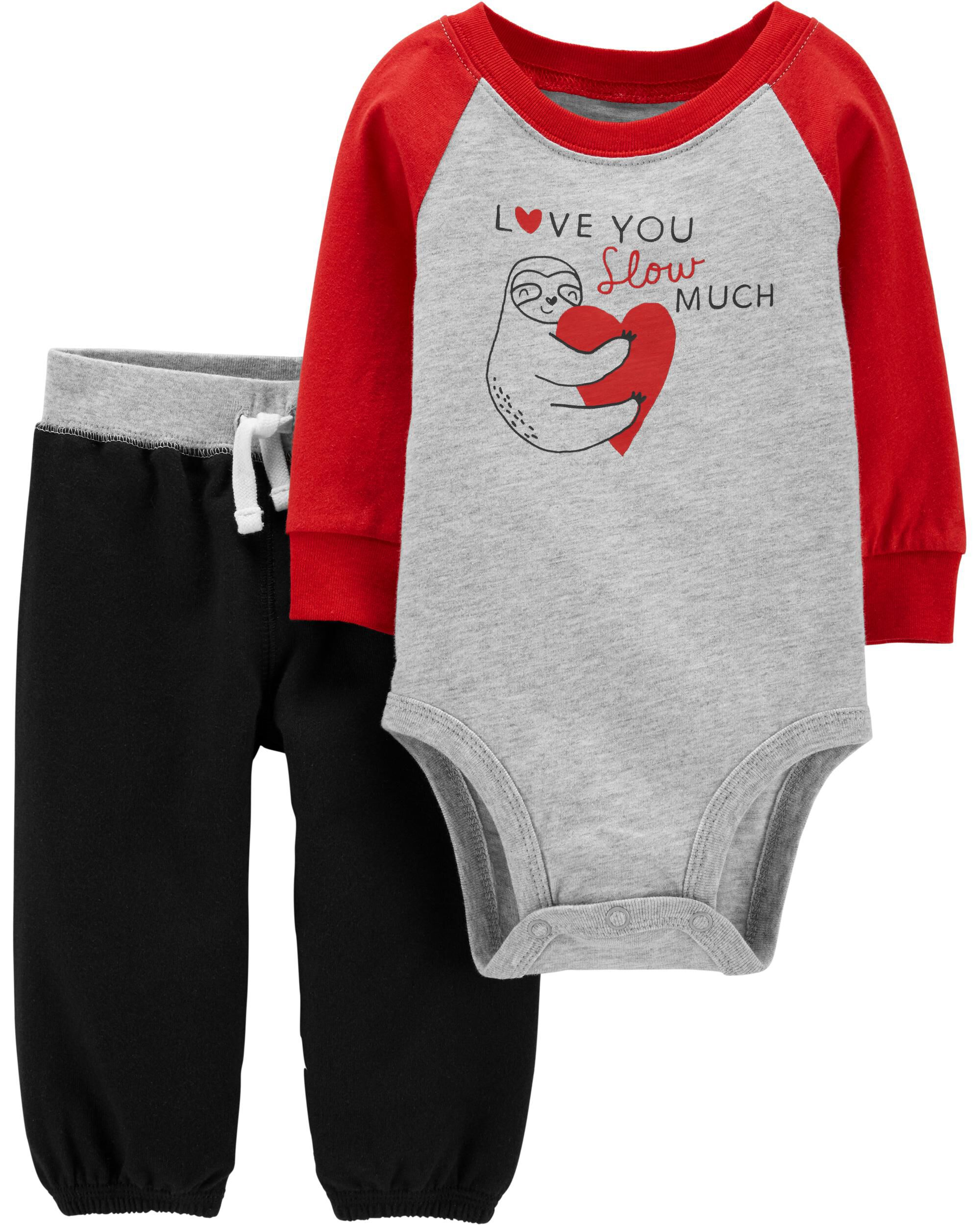 VALENTINE/'S 4-PIECE BABY OUTFIT New Size 6-9M