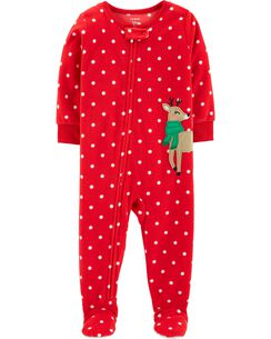1 piece christmas fleece pjs