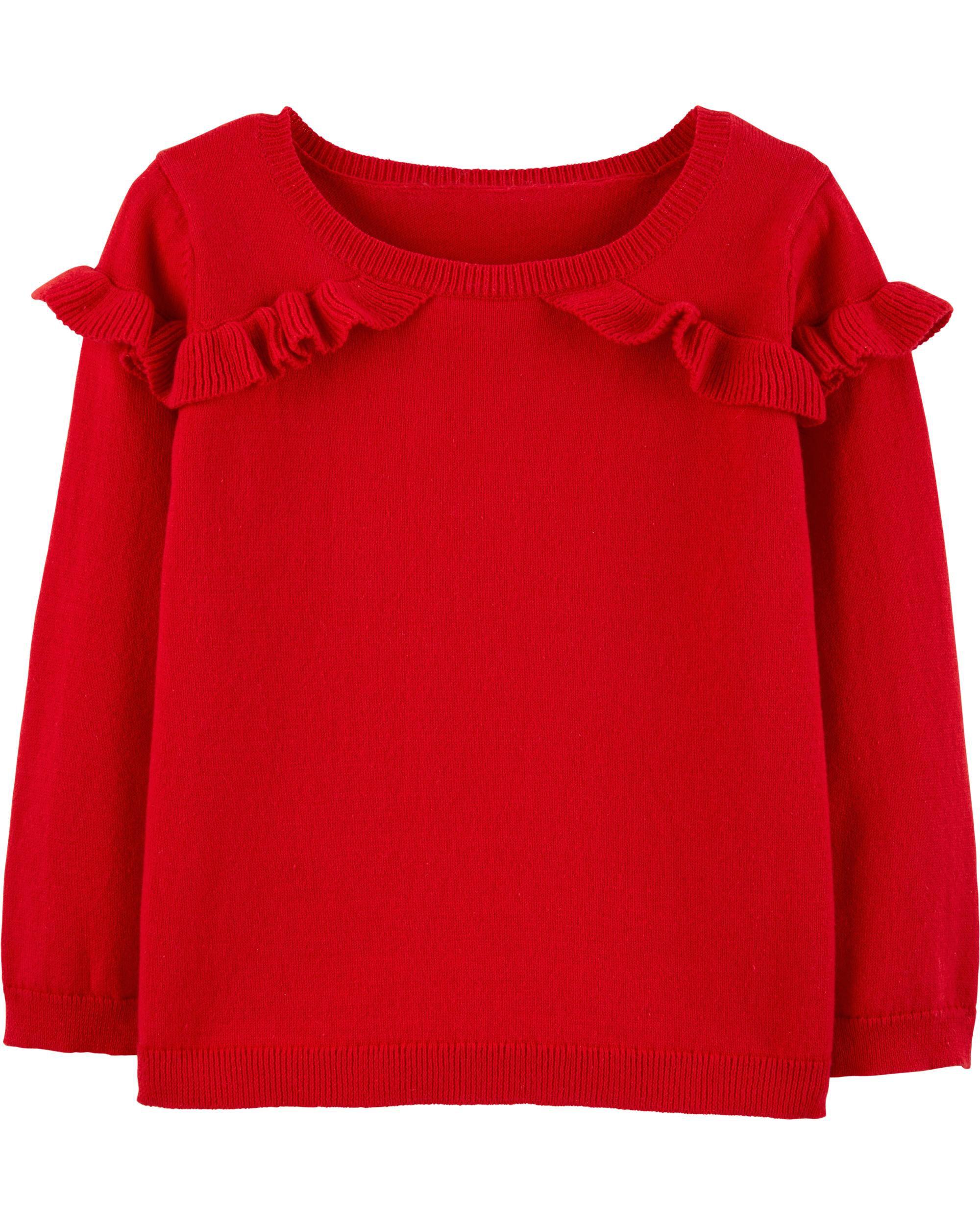 db886d349dd0 Ruffle Pullover Sweater