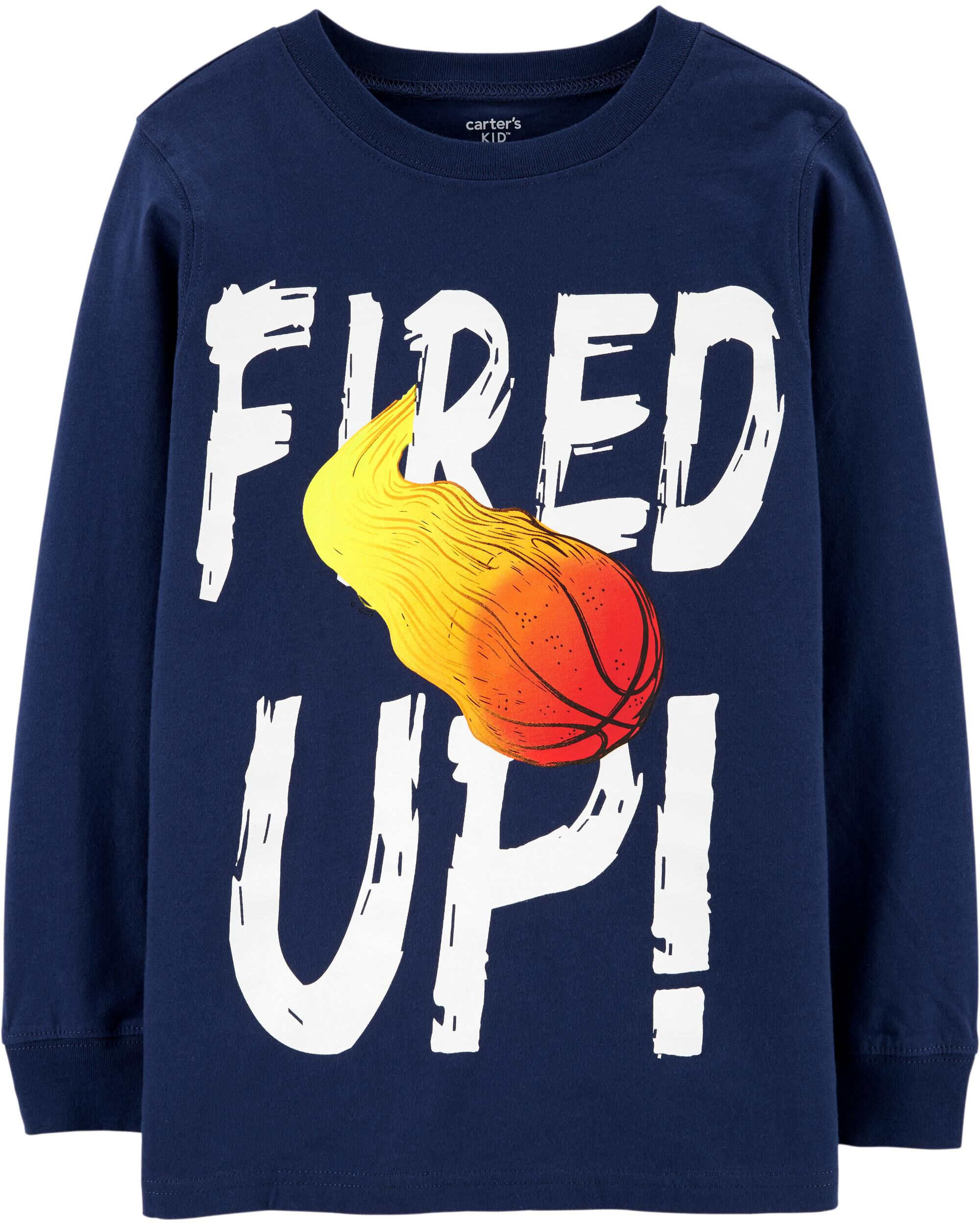 *DOORBUSTER* Fired Up Basketball Jersey Tee