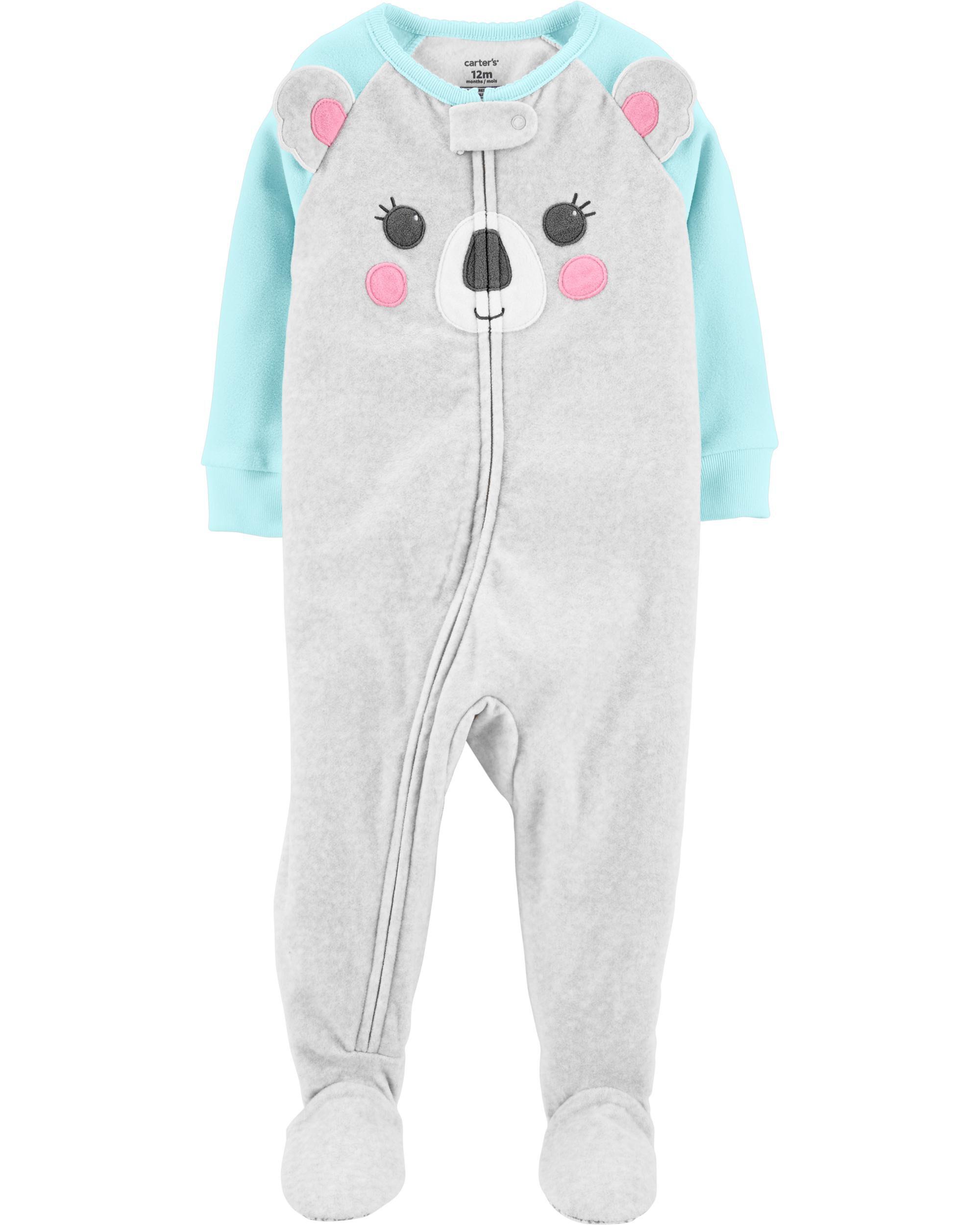 *CLEARANCE* 1-Piece Koala Fleece Footie PJs