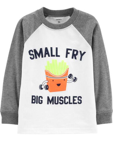 Small Fry Big Muscles Raglan Tee