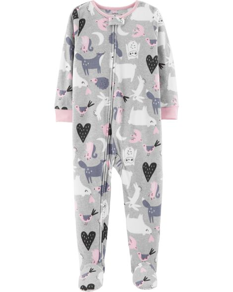 b2d9118dc 1-Piece Animals Fleece PJs