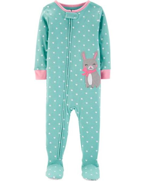 1-Piece Bunny Snug Fit Cotton PJs