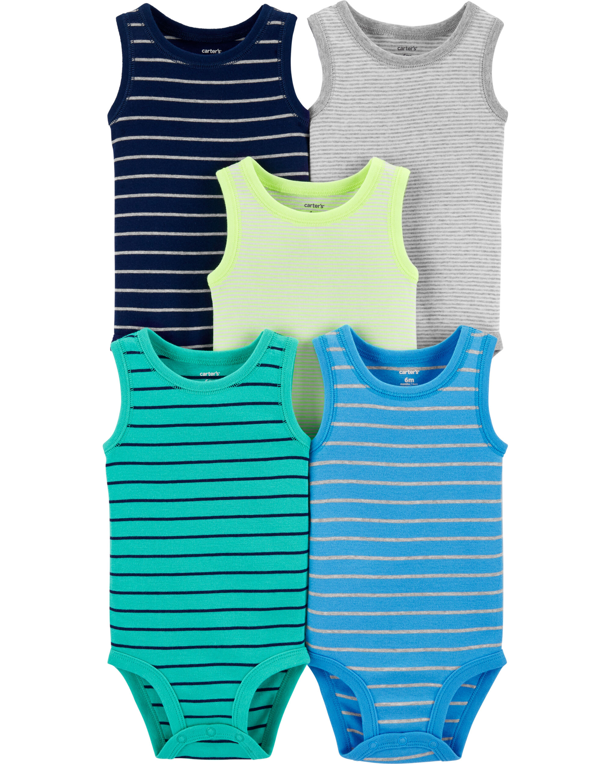 Sleeveless 3-Pack Care Baby Boys Bodysuit Exclusive