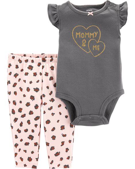 2-Piece Mommy & Me Bodysuit Pant Set