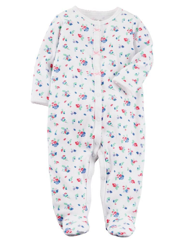 Carters Baby Girls Floral Print Sleep /& Play 6 Months White