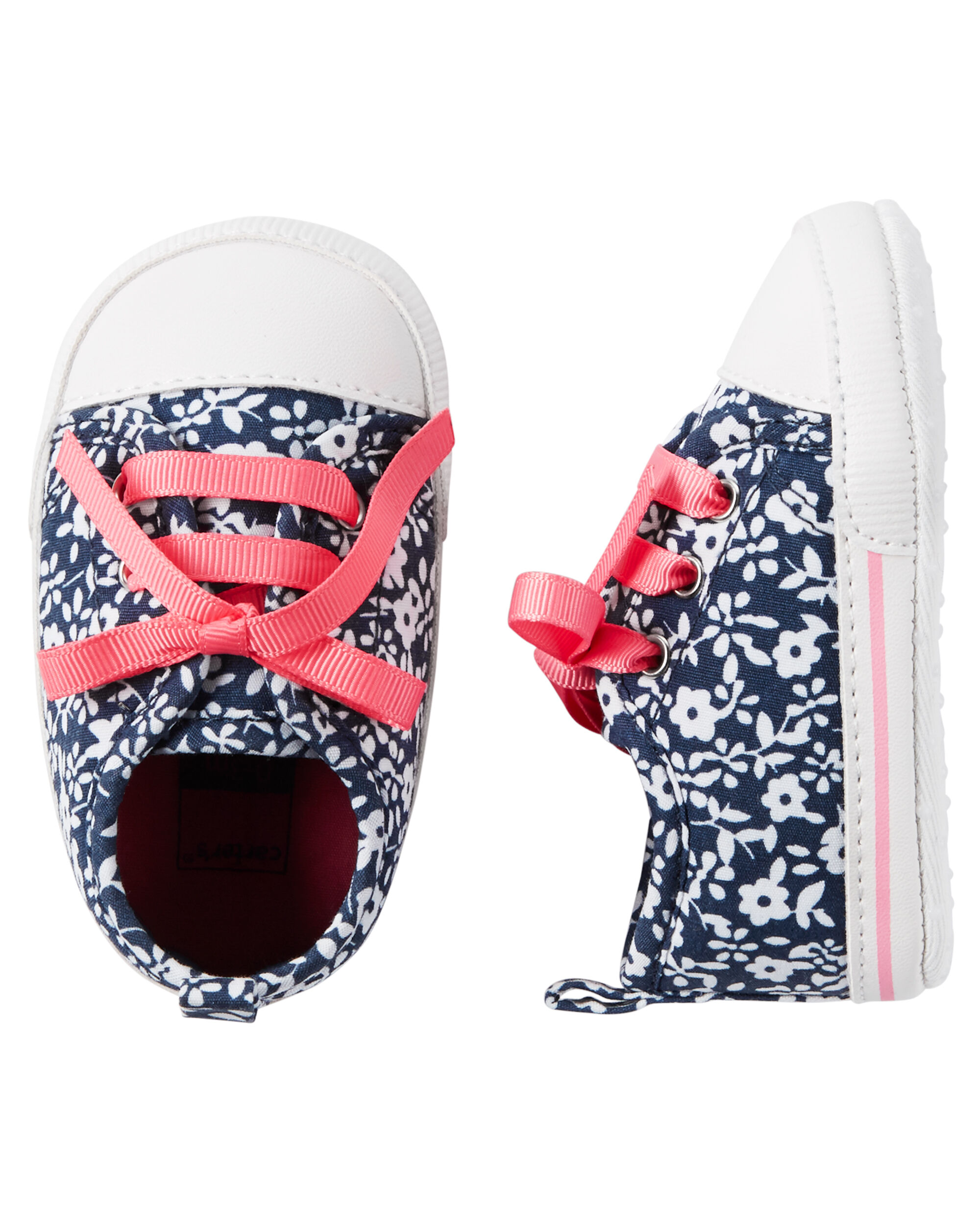 Carter's Floral Sneakers Crib Shoes
