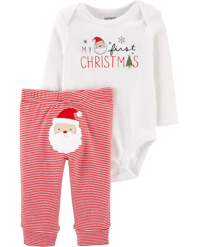 Carter/'s Baby Boys 3 Piece Outfit 12 18 Mo Bodysuit Pants Holiday Christmas Set